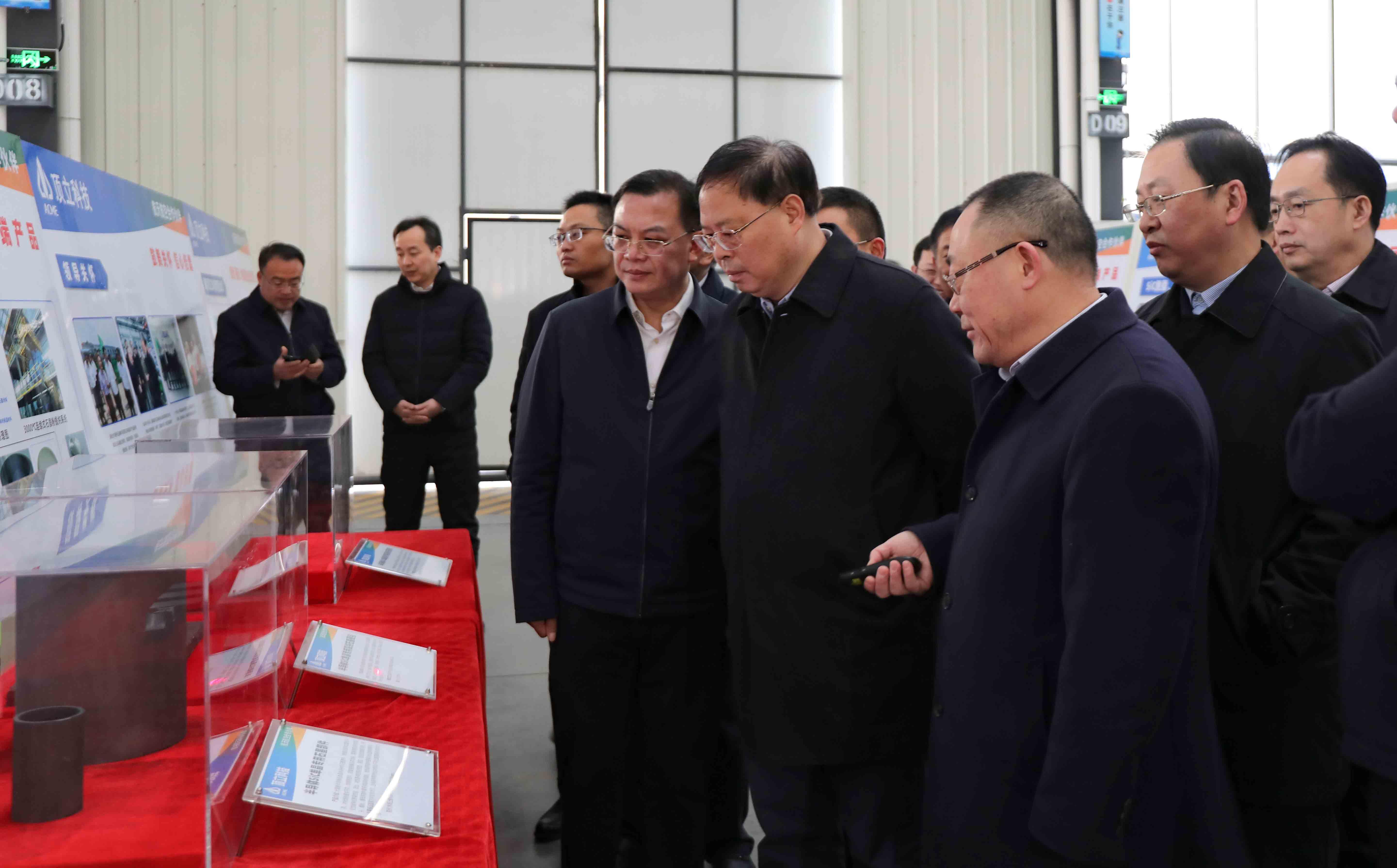 湖南省委常委、省委秘书长张剑飞一行莅临顶立科技调研